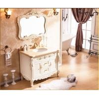 法恩莎精品欧式浴室柜、红橡木简欧落地卫浴柜