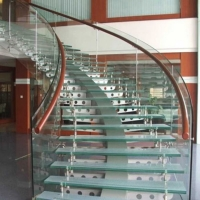 楼梯防滑玻璃 防滑玻璃踏板