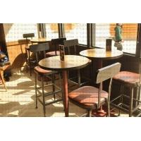 美式复古星巴克餐桌 星巴克咖啡厅餐桌椅 星巴克家具