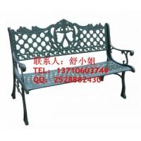 现货铸铁公园椅,小区座椅,塑木公园椅