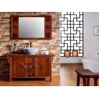 全实木中式浴室柜组合仿古卫浴柜落地式洗手台盆柜洗脸盆柜洗漱台