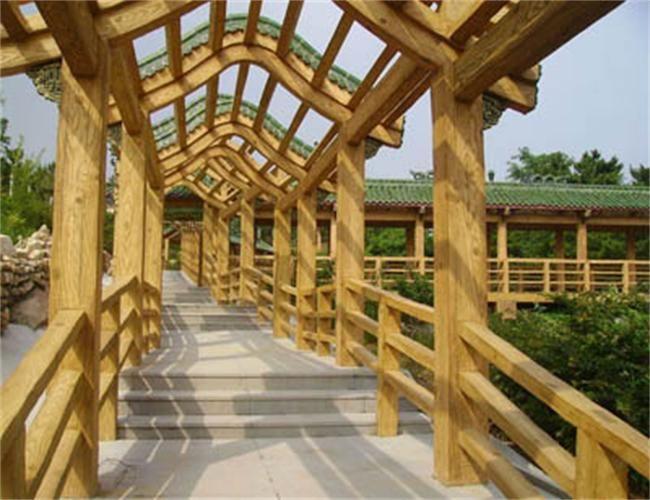 保定仿木花架,仿木栏杆,仿木树墩
