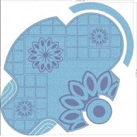 供应福州泳池背景拼图.陶瓷马赛克拼图.玻璃马赛克拼图