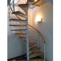 步升楼梯——旋转钢木楼梯011