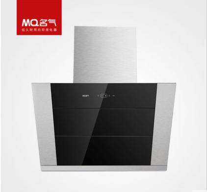 MQ名气厨房电器 307C黑晶玻璃侧吸式油烟机 金转轴十二万