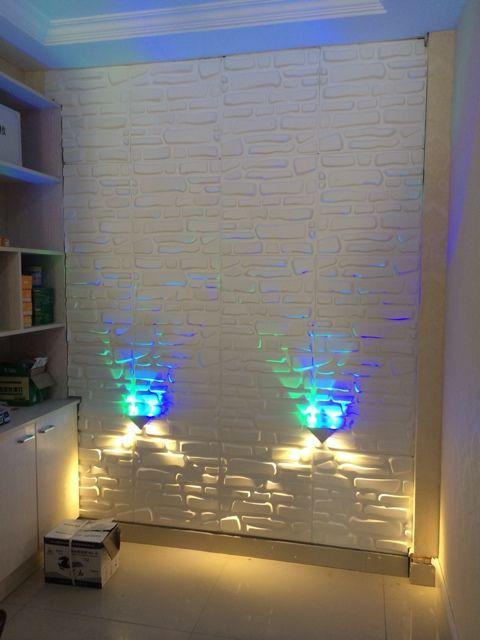 三维板3d立体电视背景墙衣店铺门头装饰材料公司店铺形象墙纸