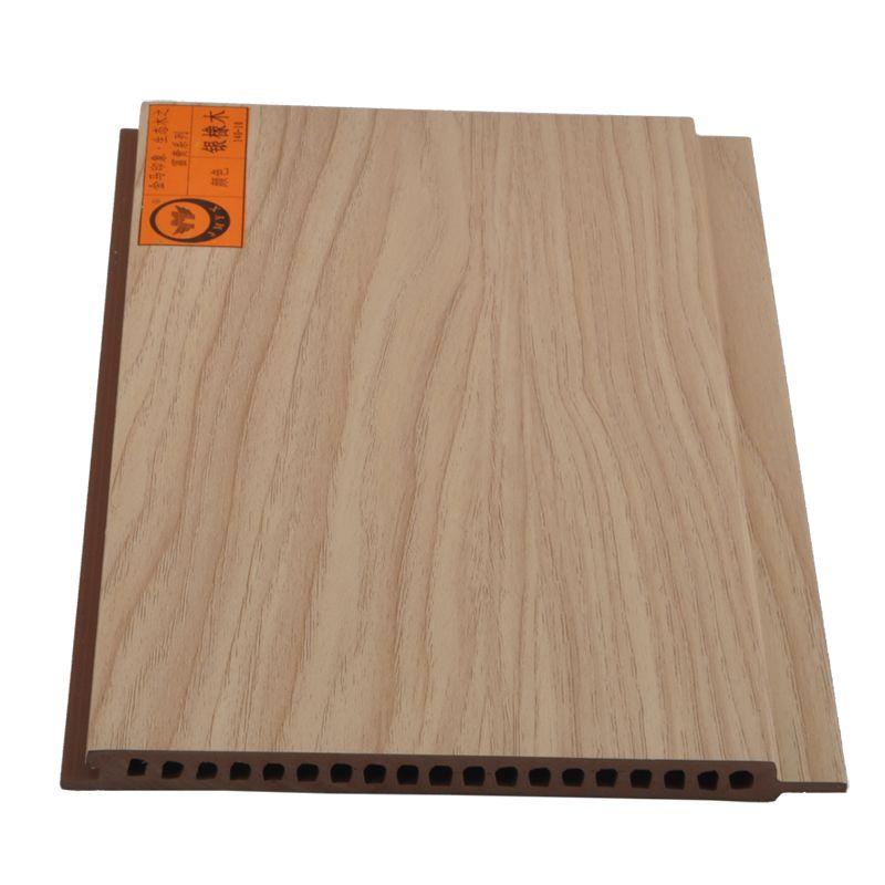 材料生态木覆膜墙面装饰板材防水环保材料护墙木纹板