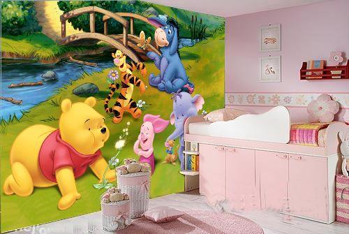 儿童卡通可爱背景墙可擦洗墙画