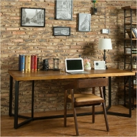 欧式新款创意实木会议办公桌公司职员休闲工作台长条会议电脑桌子