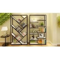 铁艺实木创意书架客厅置物架屏风隔断柜 落地展示架置物架书房