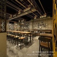 美式loft吧台桌 星巴克咖啡厅桌椅