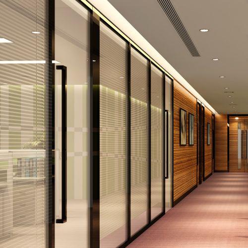 YGS-Wall-108双玻百叶系列高间隔  广州玻璃隔断墙