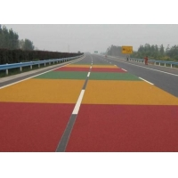 泰安曲阜聊城陶瓷颗粒彩色防滑路面