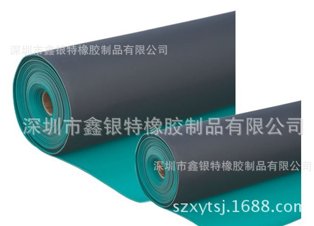绿色pvc胶板,绿黑双色pvc防静电胶板