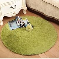 新款超柔田园客厅卧室地毯 加厚防滑长毛绒圆形地垫门垫