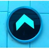 圆形蓄光型自发光指示  蓄光型自发光消防指示