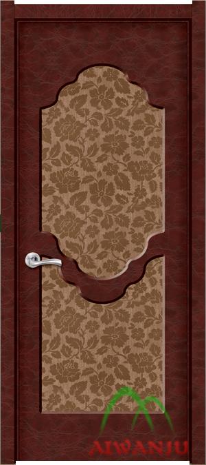 皮革木质复合门芯板门