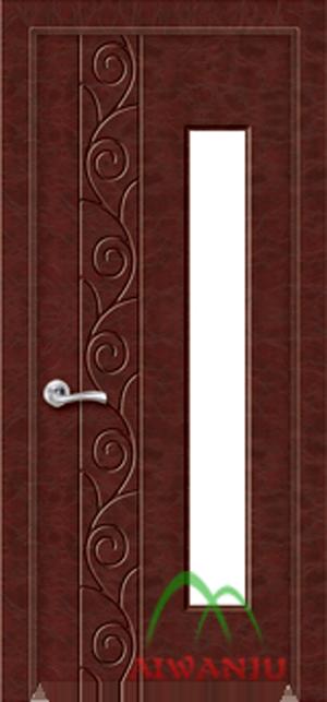 皮革木质复合玻璃门