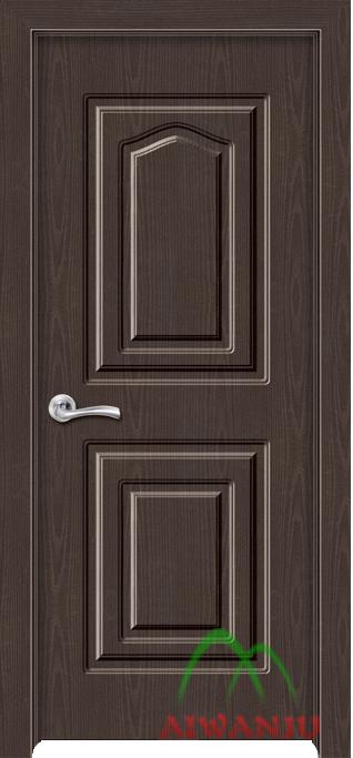 皮革木质复合隔音套装门