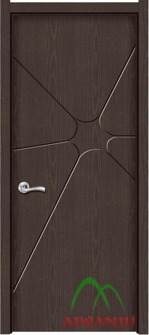 实木复合皮革门