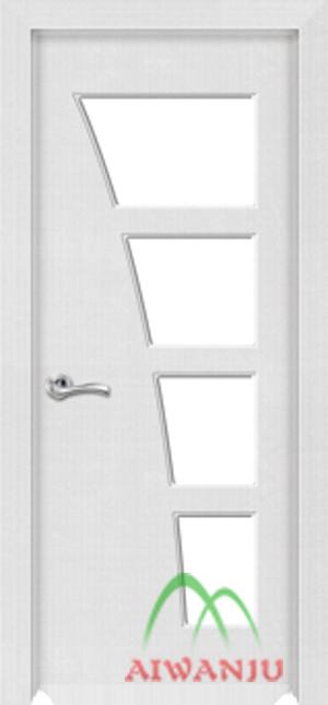 实木复合皮革玻璃门