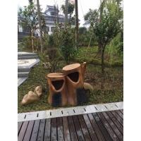 户外树桩仿木仿竹垃圾桶 农家乐园林景观风景区玻璃钢垃圾桶