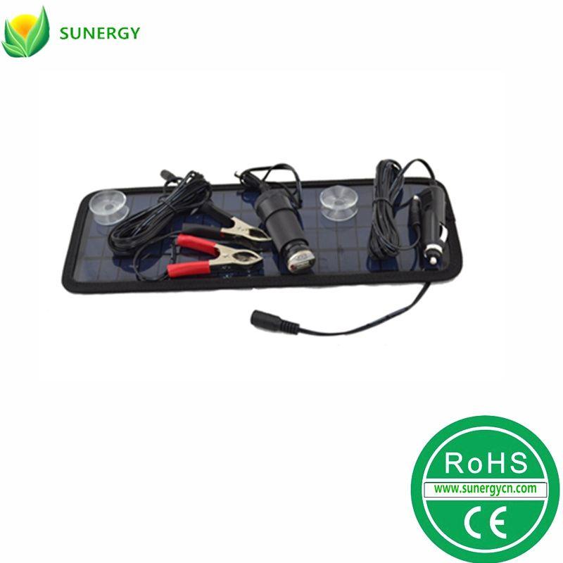 太阳能汽车车载充电器12V4.5W车用充电器汽车轮船电瓶电池