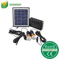 4.4AH太阳能照明系统发电系统草原发电机太阳能灯泡小系统
