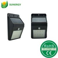 太阳能人体感应灯太阳能壁灯8LED红外感应太阳能庭院灯