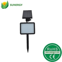 48LED光控感应太阳能泛光灯草坪灯插地灯五档可调光太阳能庭