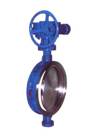 天津蝶阀D373H蜗轮传动对夹式硬密封蝶阀