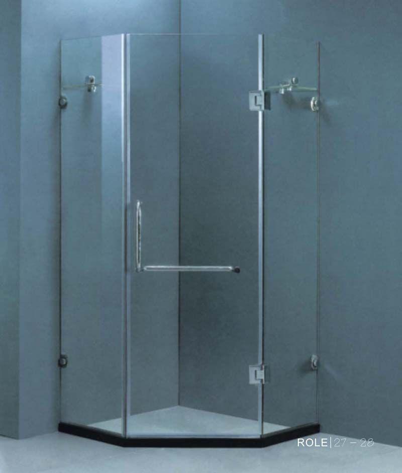 洗手间玻璃推拉门,淋浴房吊趟门,沐浴房推拉门,淋浴房隔断 高清图片