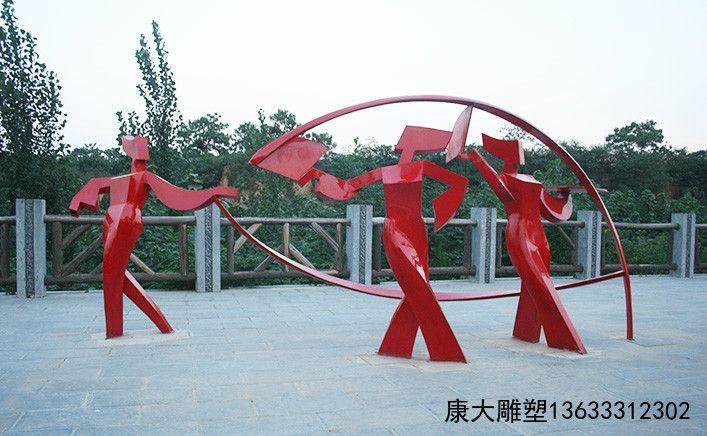 石家庄雕塑 不锈钢雕塑  彩绘人物雕塑