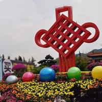广场大型中国结不锈钢雕塑