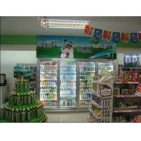 便利超市饮料柜/玻璃门冷饮展示柜|双门陈列柜|四门牛奶水果柜