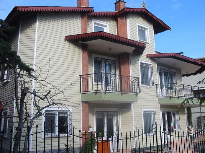 别墅外墙挂板外墙装饰材料pvc外墙挂板销售