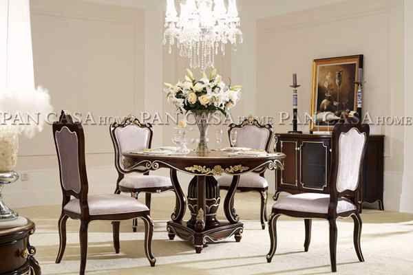 酒店,会所,样板间家具 新款欧式长餐桌椅组合图片