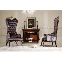 欧式套房家具,新款欧式长餐桌椅组合,实木餐椅,扶手椅