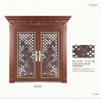 高档次豪华红古铜色不锈钢门 /罗马柱不锈钢门
