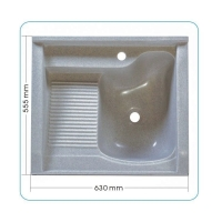 康美石英石水槽 石英石洗衣槽 60厘米