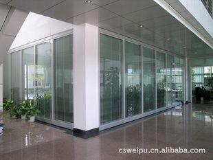 85单层玻璃隔断 85双层玻璃隔断 85双层百叶隔断 移动隔