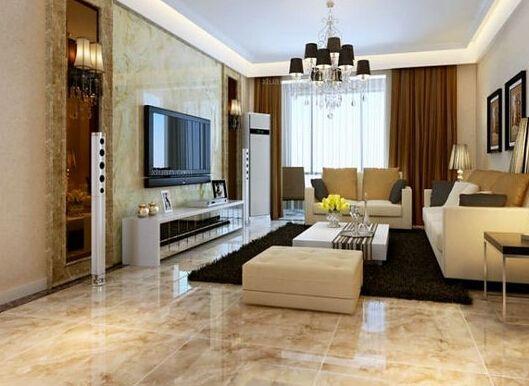 新中式别墅客厅地板别墅客厅装修地板图片12