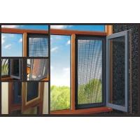 成都艾索防盗窗纱一体化断桥木铝复合内开窗