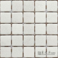 鱼之乐-白色大理石-23.5哑面-石材马赛克