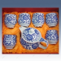 富贵牡丹陶瓷茶具,定制茶具