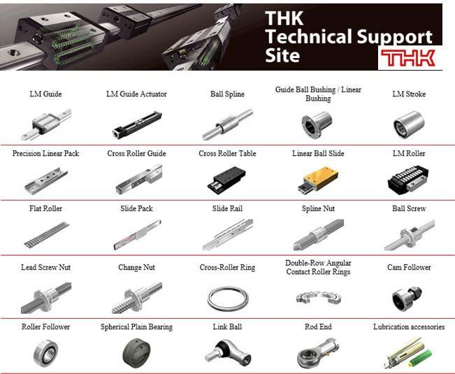 THK直线运动 (LM) 导轨,直线运动轴承、LM滚动导轨