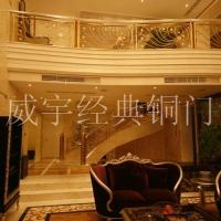 威宇经典铜装饰铜扶梯系列凤凰展翅扶手