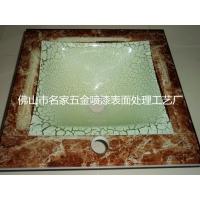 来料加工 卫浴洁具 玻璃盆 大理石纹 热转印表面处理