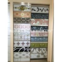 来料加工 玻璃衣柜门腰线 定制图案 高清彩印表面处理