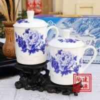 陶瓷办公茶杯设计,陶瓷茶杯带盖